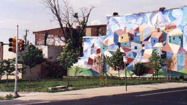 Signs of neighborhood revitalization — soup kitchen lot